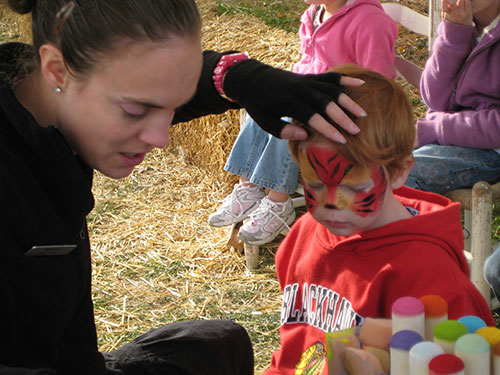Face Painting at Rader Family Farms