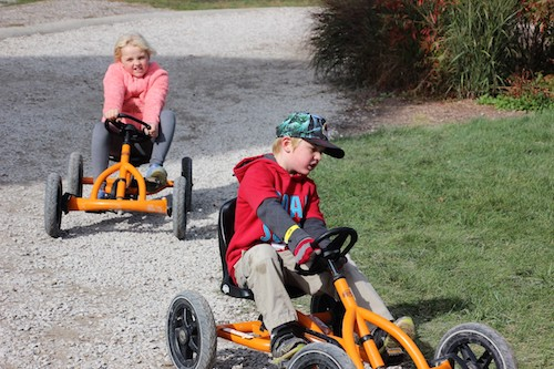 Pedal Powered Trikes at Rader Family Farms