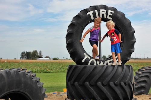 Tire Tower at Rader Family Farms